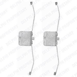 Accessory Kit, disc brake pads, Front, Front axle
