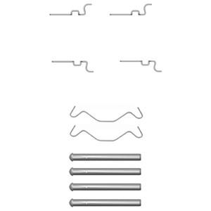 Tibehørsett, skivebremse belegg, Bak, Bakaksel
