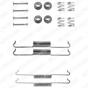 Accessory Kit, brake shoes, Front, Front axle, Rear axle