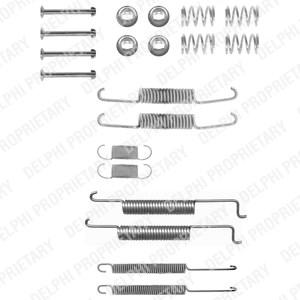 Reservdel:Audi 80 Tillbehörssats, bromsbackar, Bak, Bakaxel