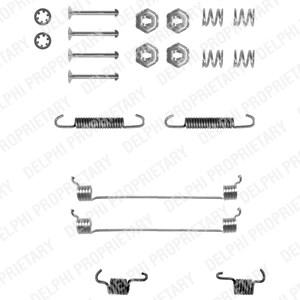 Tarvikesarja, jarrukengät, Taka-akseli, Takana