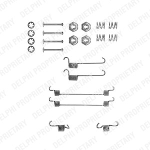 Reservdel:Citroen Ax 11 Tillbehörssats, bromsbackar, Bak, Bakaxel