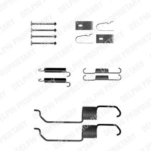 Reservdel:Mazda 626 Tillbehörssats, bromsbackar, Bak, Bakaxel