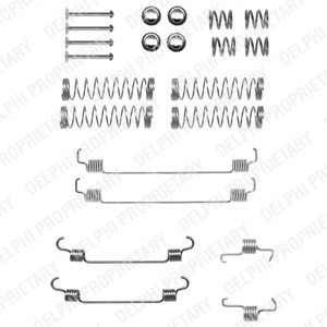 Reservdel:Citroen C3 Tillbehörssats, bromsbackar, Bak, Bakaxel
