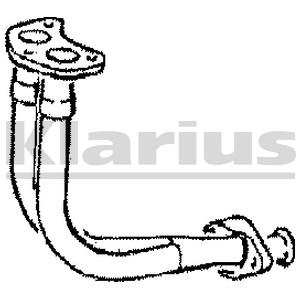 Reservdel:Ford Escort Avgasrör, Fram