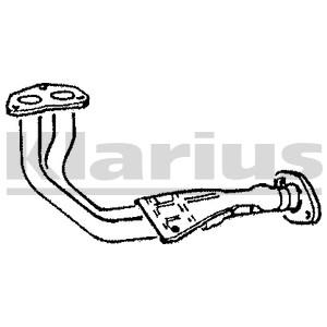 Reservdel:Mazda 626 Avgasrör, Fram