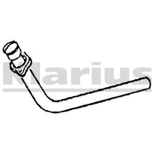 Reservdel:Mercedes S 500 Avgasrör, Vänster fram