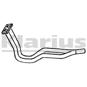 Reservdel:Volkswagen Scirocco Avgasrör, Fram