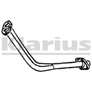Reservdel:Opel Combo Avgasrör, Fram