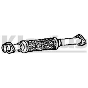 Reservdel:Saab 9000 Avgasrör, Mitt