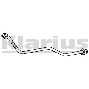 Reservdel:Mercedes E 250 Avgasrör, Fram