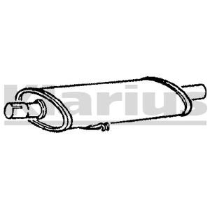 Reservdel:Fiat Tipo Mittenljuddämpare
