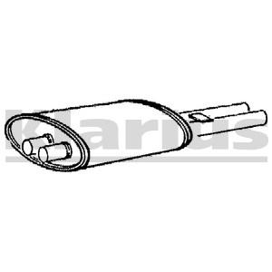 Reservdel:Mercedes E 280 Bakre ljuddämpare