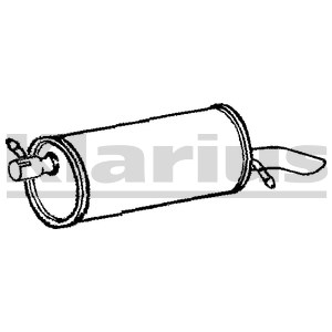 Reservdel:Ford Galaxy Bakre ljuddämpare