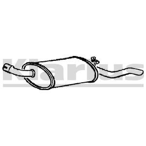 Reservdel:Ford Escort Bakre ljuddämpare