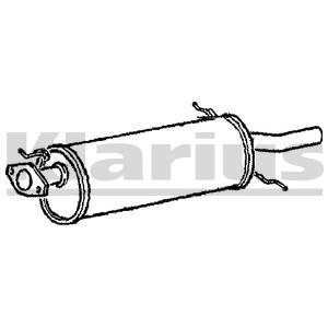 Reservdel:Mazda 626 Bakre ljuddämpare