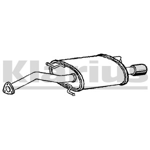 Reservdel:Volvo V40 Bakre ljuddämpare, Bak