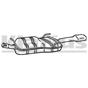 Bagerste lyddæmper, Bag