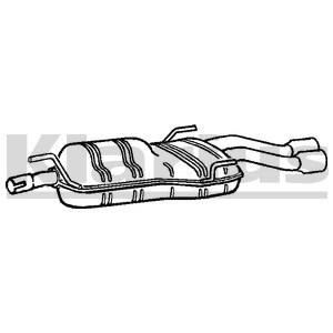 Reservdel:Saab 9-5 Bakre ljuddämpare