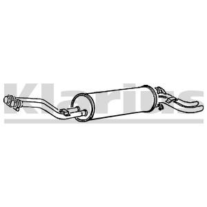 Reservdel:Mercedes S 500 Bakre ljuddämpare