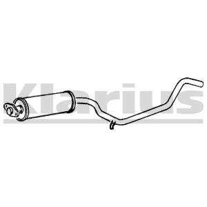 Reservdel:Opel Combo Mittenljuddämpare