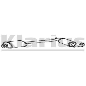Reservdel:Fiat 500 Mittenljuddämpare