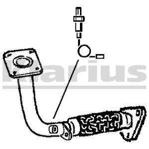Reservdel:Ford Galaxy Avgasrör, Fram