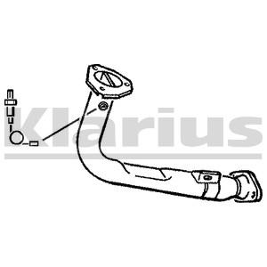 Reservdel:Citroen Ax 11 Avgasrör, Fram