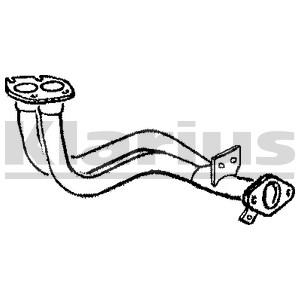Reservdel:Ford Sierra Avgasrör, Fram