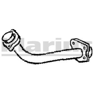 Reservdel:Mercedes Sprinter Avgasrör, Fram
