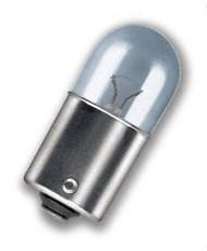 Glödlampa, registreringsskylt, Fram