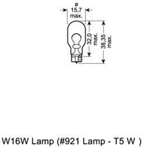 Glödlampa, extrabromsljus, Bak, Ytterspegel, Sidoinstallation, Stötfångare