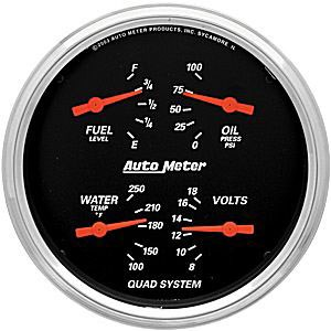 Oljetryck/Vattetemp/volt/Tankmätare, Universal