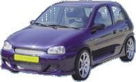 Reservdel:Opel Corsa Sidokjolar, Höger och vänster