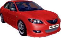 Reservdel:Mazda 2 Frontspoiler, Fram