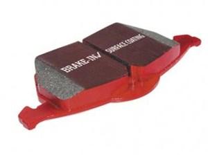 Bremseklosser REDSTUFF, Framside