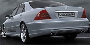 Reservdel:Mercedes 200 Stötfångare, Bak