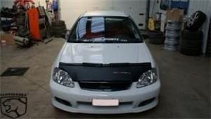 Reservdel:Mazda 2 Specialanpassat stenskottsskydd till motorhuv