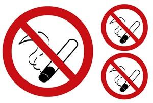 Tupakointi kielletty-tarra, Universal