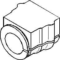 Bussning, krängningshämmare, Inre, Fram, höger eller vänster