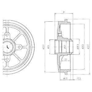 Reservdel:Citroen Zx Bromstrumma, Bak, Bakaxel