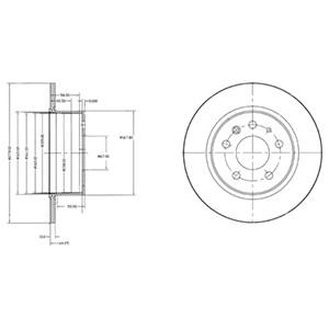 Reservdel:Bmw 316 Bromsskiva, Fram, Framaxel