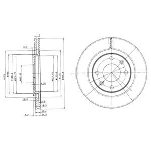 Reservdel:Citroen Bx Bromsskiva, Framaxel