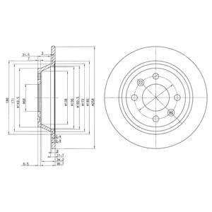 Reservdel:Saab 9000 Bromsskiva, Bakaxel