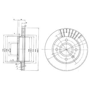 Reservdel:Ford Escort Bromsskiva, Framaxel