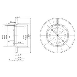 Reservdel:Citroen Ax 11 Bromsskiva, Framaxel