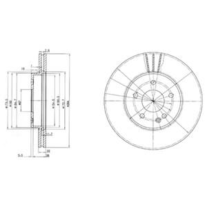 Reservdel:Mercedes C 180 Bromsskiva, Framaxel