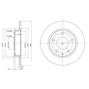 Reservdel:Mazda 626 Bromsskiva, Bakaxel