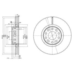 Reservdel:Audi A8 Bromsskiva, Framaxel