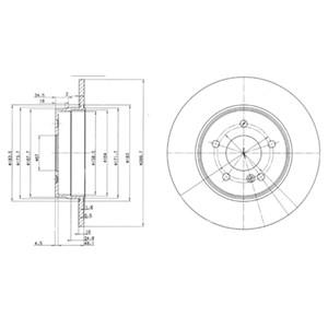 Reservdel:Mercedes C 180 Bromsskiva, Bak, Bakaxel, Fram